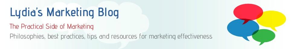 Lydia's Marketing Blog