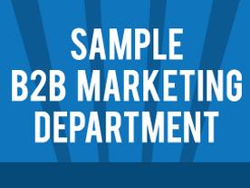 Sample B2B Marketing Dept Org Chart